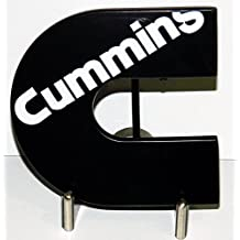 Cummins Diesel Logo Black Enamel with White Lettering Belt Buckle for Belts. Ships from Cornwall, Ontario, Canada.