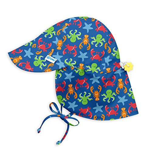 i play.. Toddler Boys' Flap Sun Protection Hat, Royal Blue Sealife, 2T/4T by i play.