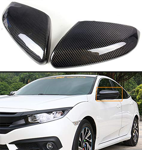 Cuztom Tuning Fits for 2016-2019 Honda Civic FC Real Carbon Fiber Side Mirror Cover Direct Replacement