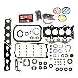 Evergreen Engine Rering Kit FSBRR4038EVE 01-05 Honda Civic 1.7 SOHC D17A1 Full Gasket Set, 0.25mm / 0.010'' Oversize Main Rod Bearings, Standard Size Piston Rings