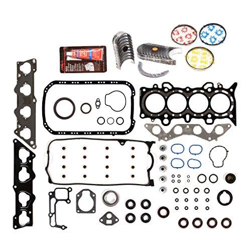 Evergreen Engine Rering Kit FSBRR4038EVE\0\0\0 01-05 Honda Civic 1.7 SOHC D17A1 Full Gasket Set, Standard Size Main Rod Bearings, Standard Size Piston Rings