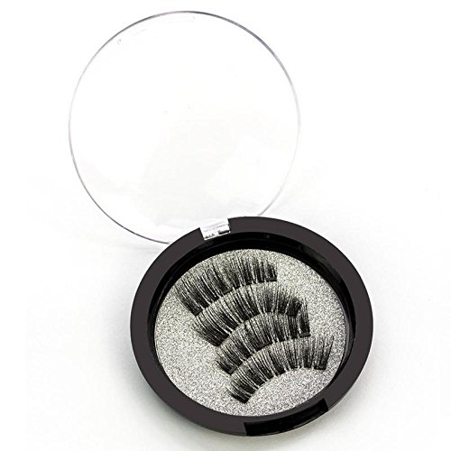 Beauty : 4pcs/2pair Magnetic Eyelashes 3D Handmade Mink Reusable Magnet False Eyelashes Triple Natural Soft Hair Magnet Eye Lashes