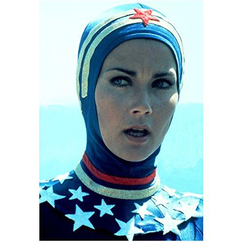 Lynda Carter 8 Inch x 10 Inch PHOTOGRAPH Wonder Woman (TV Series 1975 - 1979) Wearing Swim Cap kn