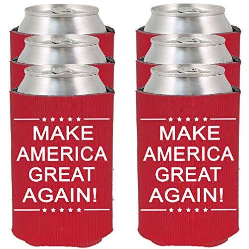 (Shop4Ever Make America Great Again! ~ Red ~ Can Coolie Political Drink Coolers Coolies (Red, 12) )
