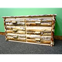 Midwest Log Furniture - Rustic Log Dresser - 6 Drawer