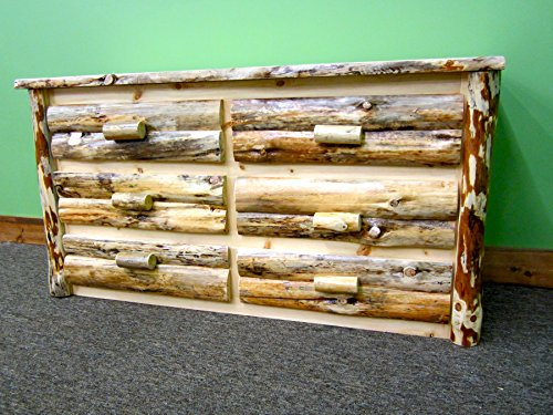 Midwest Log Furniture - Rustic Log Dresser - 6 Drawer - Log Vanity
