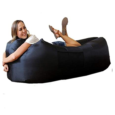 Terrific Inflatable Lounger Portable Air Sofa Couch Bed Boat For Outdoor Lounging Hiking Camping Beach Fishing Park Travelling Garden Sleeping Bags Camping Bed Alphanode Cool Chair Designs And Ideas Alphanodeonline