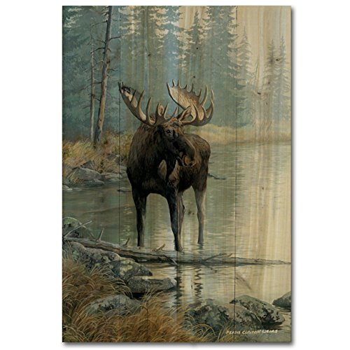 WGI-GALLERY WA-QWM-812 Quiet Water Moose Wall Art