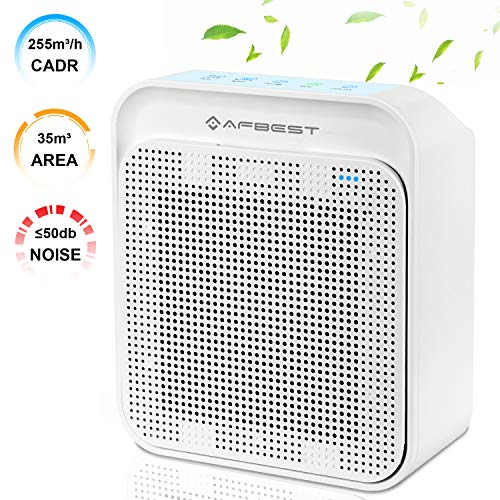 AFBEST Air Purifier with True HEPA & Active Carbon Filters, Odor Allergies...