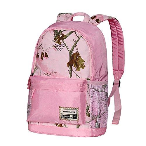 "Jungleland School Backpack Student College Bookbag Rucksack fit 15.6"" Laptop, Lightweight Water Resistant Travel Daypack Daily Backpack for Women Men"