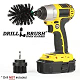 2 Piece Mini Size Black Ultra Stiff Rotary Cleaning Drillbrushes used for Cleaning Grills, Furnaces, Baked-on Food, and Industrial Applications by Drillbrush Reviews