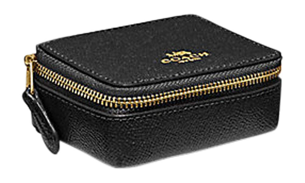 COACH TRIPLE PILL CASE BOX with 3 Pill Bottles F41289 (BLACK) by Coach