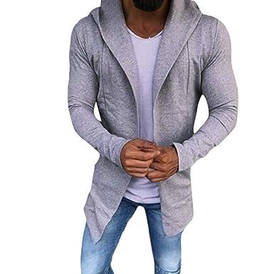 Chaqueta de Hombre de BaZhaHei, Suéter de la Rebeca del Color sólido Ocasional de Hombres