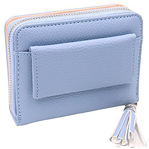 Women's RFID Blocking PU Leather Wallet Card Holder Organizer Girls Small Cute Coin Purse with ID Window by Calsoling (Image #6)
