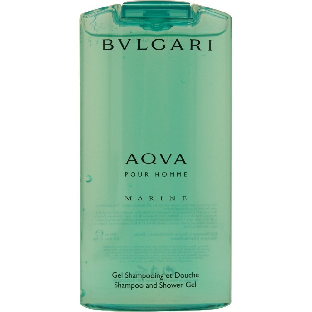 Aqua Marine by Bvlgari Shampoo and Shower Gel for Men, 6.7 Ounce