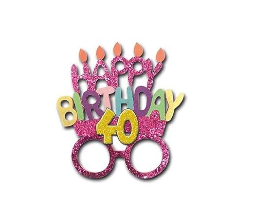 Gafas Party accesorios idea regalo cumpleaños genérico. 18 ...
