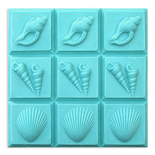 Milky Way Sea Shells Soap Mold Tray - Melt and Pour - Cold Process - Clear PVC - Not Silicone - MW -