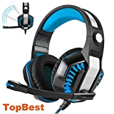 Gaming Headset Beexcellent GM-2 Wired Stereo Subwoofer LED Light Bass Over-ear Professional Headphones with 3.5mm Microphone Inflected Revolution Noise Isolating for Laptop Tablet mobile phone and PS4