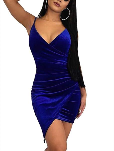 Amazon.com: Ussuperstar - Vestido de terciopelo para mujer ...