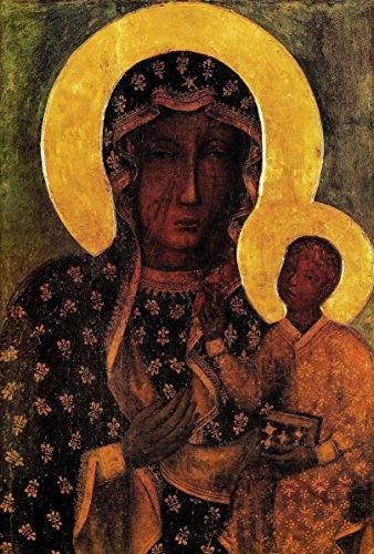 Black Madonna Poland painting Our Lady of Czestochowa Polish Madonna PRINT ON CANVAS Catholic pictures