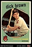 1959 Topps # 61 Dick Brown Cleveland Indians (Baseball Card) Dean's Cards 3 - VG Indians