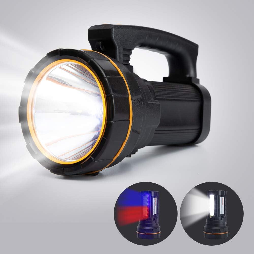 Super Bright LED Flashlight USB Rechargeable Spotlight Searchlight Handheld