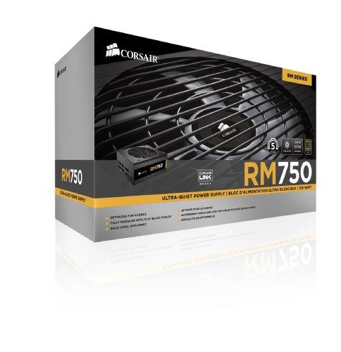 Corsair RM Series, RM750, 750 Watt (750W), Fully Modular Power Supply, 80+ Gold Certified