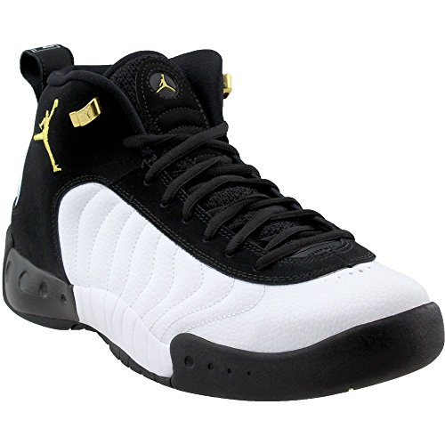 Jordan Men's Jumpman Pro Basketball Shoe, Black/Metallic Gold/White, Size 11]()