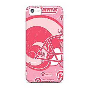 Perfect Hard Cell-phone Case For Iphone 5c With Unique Design Colorful St. Louis Rams Skin PhilHolmes