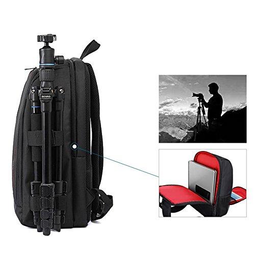 Amazingdeal365 Al aire libre mochila multifuncional impermeable cámara portátil bolsa (Verde) Rojo