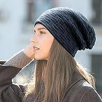 MUCO Gorros Hombre Mujer Unisex Invierno Cálido Sombreros de Punto Forro  Polar Beanie Gorro. Cargando imágenes. b8cd9010b8c