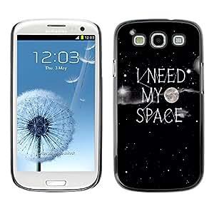 X-ray Impreso colorido protector duro espalda Funda piel de Shell para SAMSUNG Galaxy S3 III / i9300 / i747 - Night Quote Individual Stars