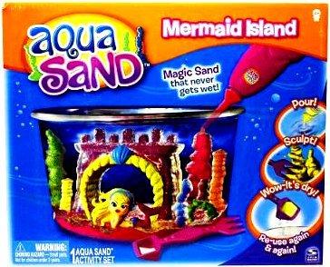 Aqua Sand Mermaid Island Castle Sand Art Bottle
