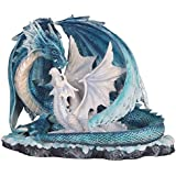"""StealStreet SS-G-71533 Light Blue Dragon Mom with White Baby Statue Figurine, 7"""""""