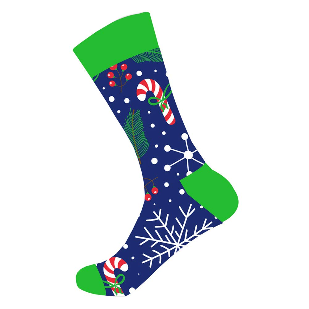 WEILAI Mens Funky Novelty Cool Colorful Design Comfort Cotton Casual Dress Crew Socks