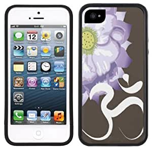 Aum OM Symbol Flower Handmade iPhone 5 Black Bumper Plastic Case