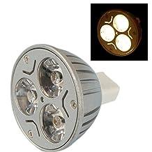 SODIAL(R) 3*1W MR16 GU5.3 LED Light Bulb 3W 12V - Warm White