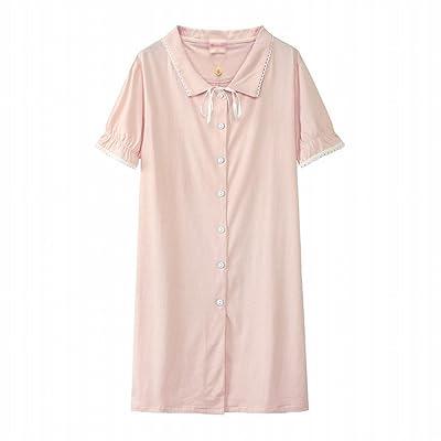 AN Mme. Pajamas Princess Robe de vent Sweet Sleeper Dress Coton d'été Cute Jupe d'étudiant