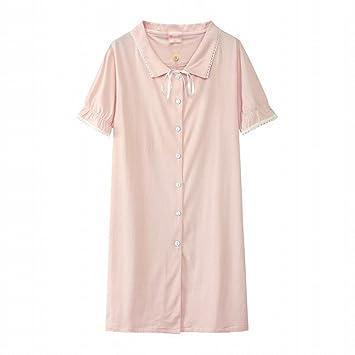 Pijama Princesa Vestido de viento Vestido de dormir dulce Algodón de verano Falda