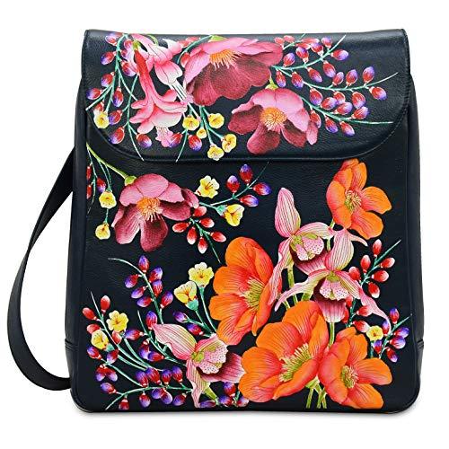 Anuschka Handbags Women's 661 Large Convertible Backpack Moonlit Meadow One Size
