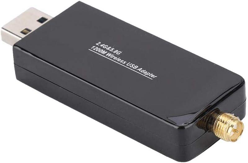 Wendry Network Card,W50L-5DB RTL8812 1200M Wireless Network Card,Dual Frequency Wireless Network Card,USB WiFi Adapter Receiver