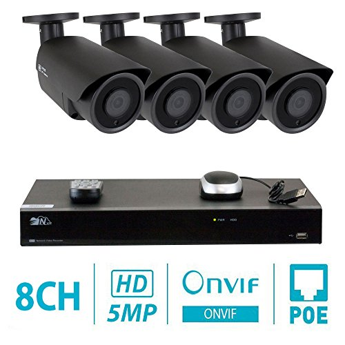 GW 8 Channel H.265 NVR 5-Megapixel Security Camera System, 4