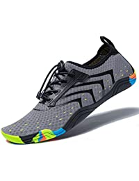bc3f2bc4c007 Women Men Unisex Lightweight Water Shoes Quick-Dry Barefoot Flexible Beach  Swim Shoes
