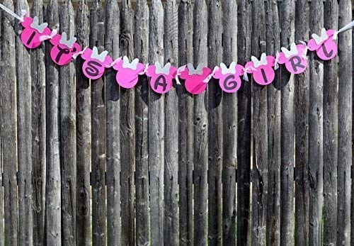 Its A Girl Minnie Mouse Banner | baby shower decorations