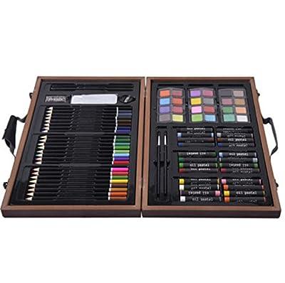 80 Pcs Art Set Drawing And Paint Brushes Bulk Pack Kids Soluble Portfolio Classroom