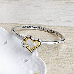wassana A Life Without Love Paw Print Memorial Jewelry Bracelets Dog Lover Bangle