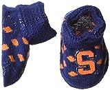 NCAA Syracuse Orange, New Born de Botitas de bebé Caja de Regalo, Diseño de lunares, color azul marino/Naranja