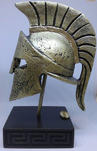 Leonidas Helmet Statue Bronze Greek Spartan Alabaster (Bronze Greek Helmet)