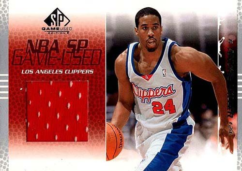 Signed Miller, Andre (Los Angeles Clippers) Unsigned 2003-04 Upper Deck SP Game Used Basketball Jersey Insert Card. autographed