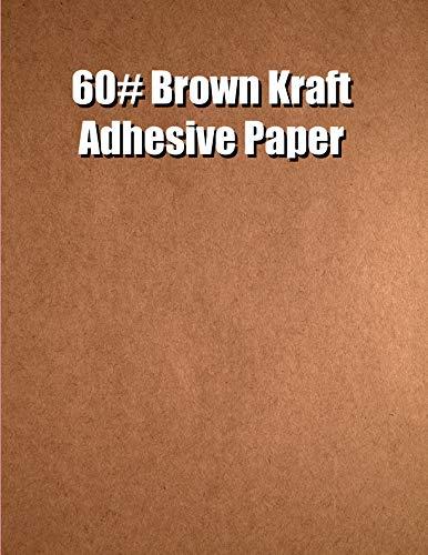 Spinnaker Coating Brown Kraft 60# Adhesive Paper, Strip-Tac Plus, Permanent, 17 x 22, 500 Sheets per Carton ()